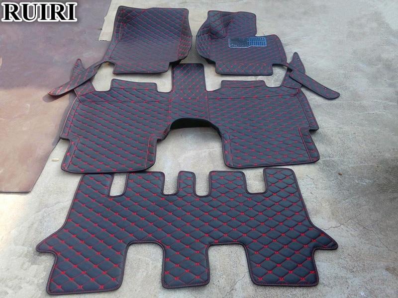 Custom special car floor mats for Right Hand Drive Mitsubishi Pajero Sport 7 seats 2019 2016 waterproof carpets for Pajero 2018