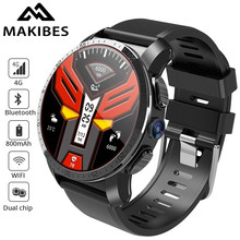 Makibes M3 4G MT6739 + NRF52840 Dual Chip 8MP Kamera GPS 800 MAh 2 GB + 16 GB Pria smart Watch Ponsel Android 7.1 Panggilan SIM TF Kartu(China)