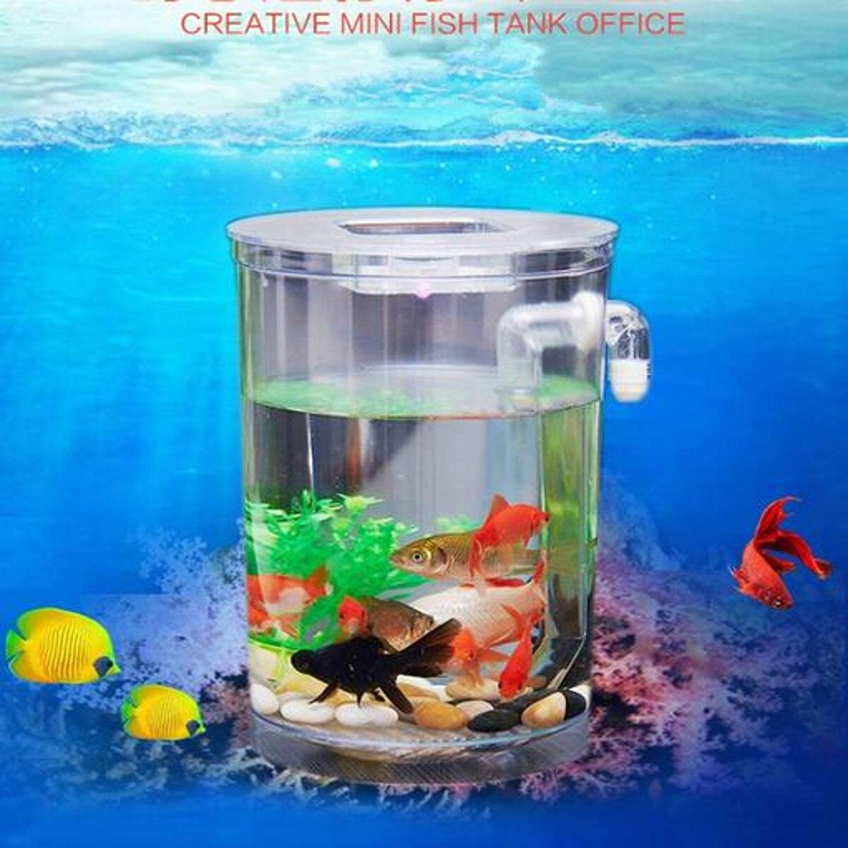 Hot Price #59aa LED Light Mini Aquarium Acrylic Single