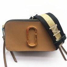 2019 новая сумка для камеры широкий плечевой ремень письмо маленькая квадратная сумка кожаная женская сумка двойная молния маленькая сумка на плечо кошелек