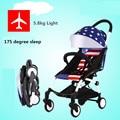 175 graus do sono 0-36 meses de uso do bebê 5.8 kg carrinho de Bebê luz portátil dobrável mini carrinhos de guarda-chuva de carro do bebê criança 11 cores