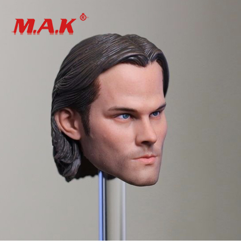 """1:6 Scale Male Head Sculpt Model Toys Supernatural Sam Winchester Jared Padalecki fit 12"""" Action Figure for Collection as Gift"""