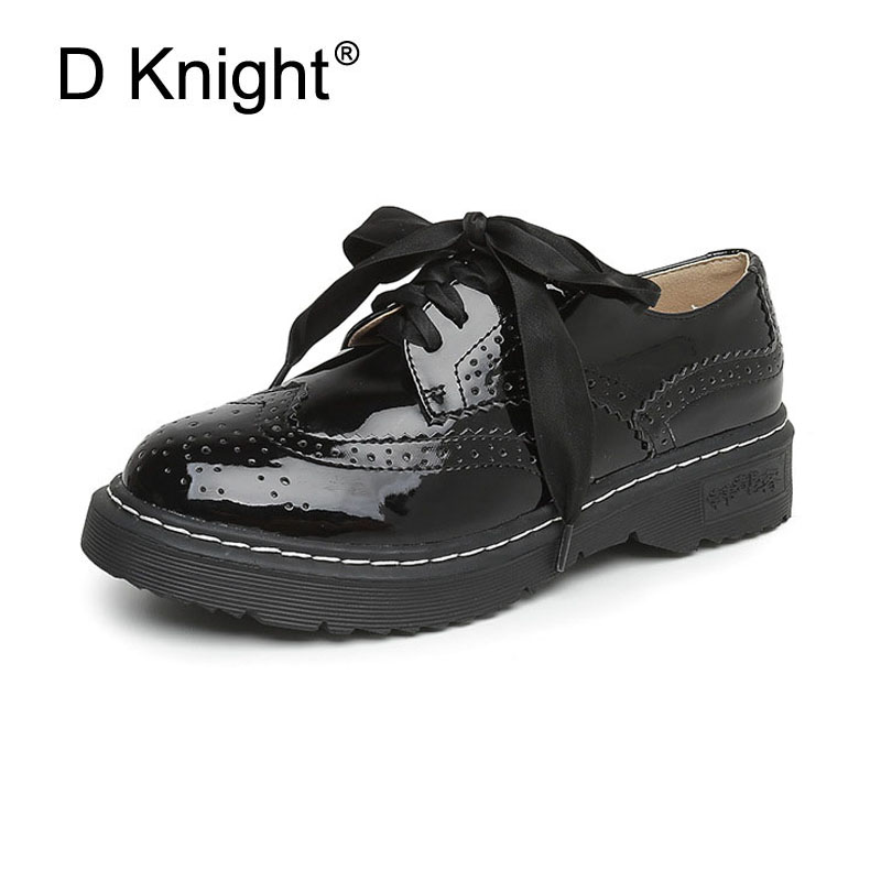 New Fashion England Style Women Casual Brogue Oxford Shoes