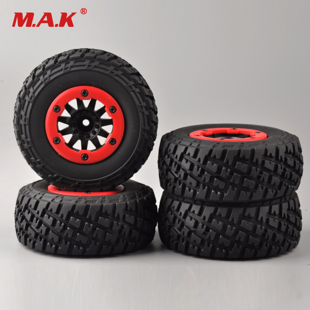 4Pcs/Set Truck Bead-Lock Tire Wheel Rims For TRAXXAS Slash RC 1:10 Short Course Car Parts 30005 injora 4pcs short course truck rubber tire