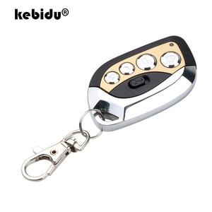 Image 1 - Kebidu Drahtlose Fernbedienung Fernbedienung Auto Duplikator 433MHz Einstellbare Tor Garage Tür Keychain für Auto