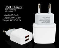 Dual USB Ladegerät Eu-stecker Für Apple iPhone 5 5 S 5C 6 6 S 7 AC Reisestecker Ladegerät Adapter Für iPad Samsung Xiaomi Telefon ladegerät