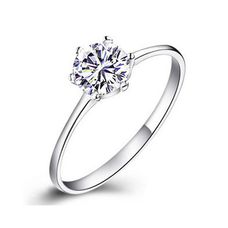 Fashion Simple Wedding Rings For Women Round Princess Cut Cubic Zircon Crystal 925 Sterling Silver Engagement Ring Female Sterling Silver Engagement Rings Engagement Ringfashion Engagement Ring Aliexpress