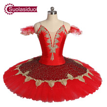New Arrival Adult Red Professional Ballet Tutu Costumes The Firebird Performance Ballet Dance Stage Wear Girls Ballet Skirt