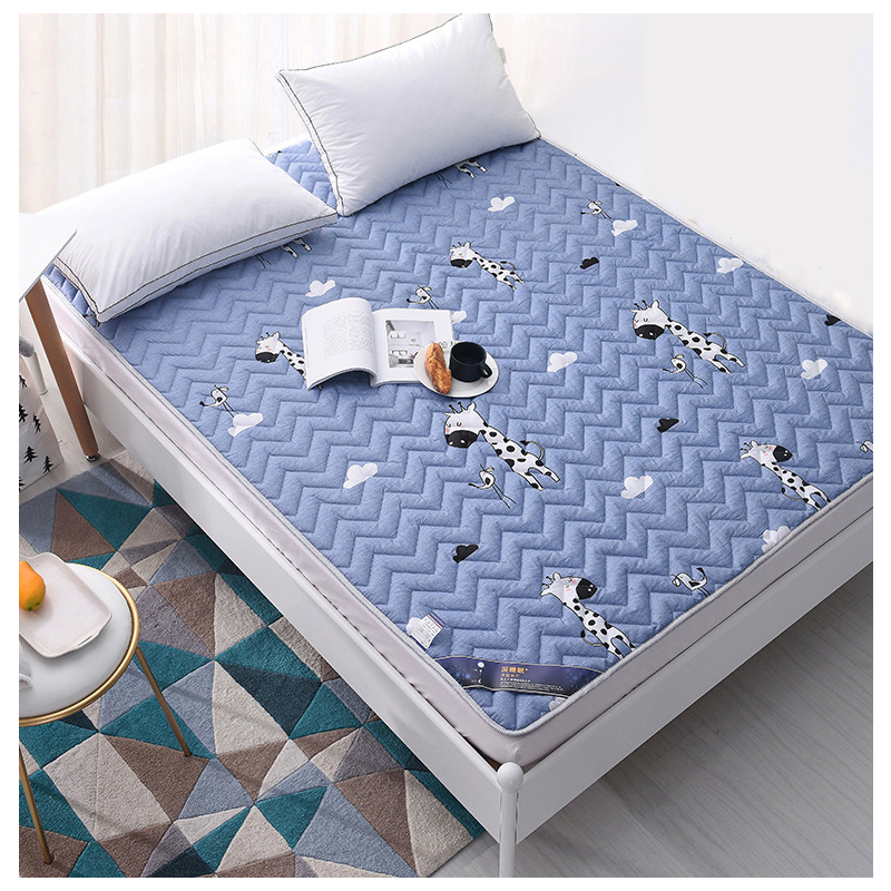 Cotton Cartoon Various Colourful Comfortable Water Scrubbing Bed Mattress Healthy Double Version Environmental Protection