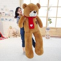 Мягкий гигант Мишка чучело Плюшевые игрушки с шарфом 120 см 140 см 160 см 180 см Kawaii Большой Медведи Куклы для детей большие подушки