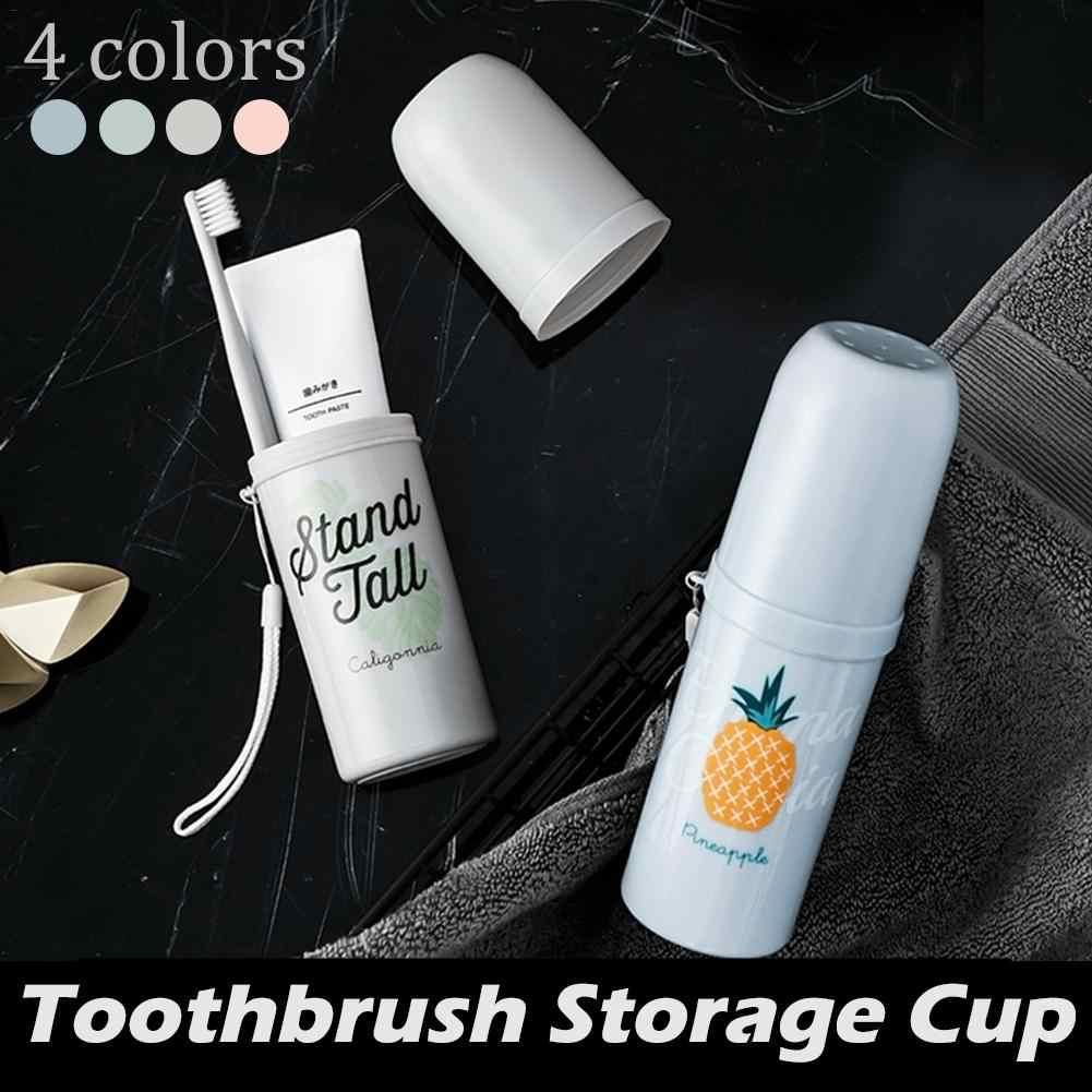 Conjunto Copo escova de dentes de Viagem portátil Caixa de Armazenamento Casa Flamingo cactus Organizador Escova de Dente Creme Dental Toalha Lavagem Xícara Gargarejo 40