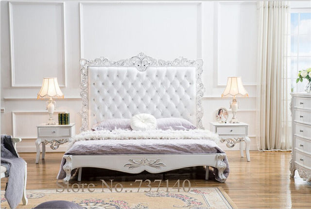 Luxury Bedroom Furniture Leather Wooden Bed Solid Wood Ing Agent Whole Price