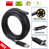 R N 2In1 2 5 10M PC Android Endoscope 7mm Lens USB Endoscope Camera Waterproof Inspection