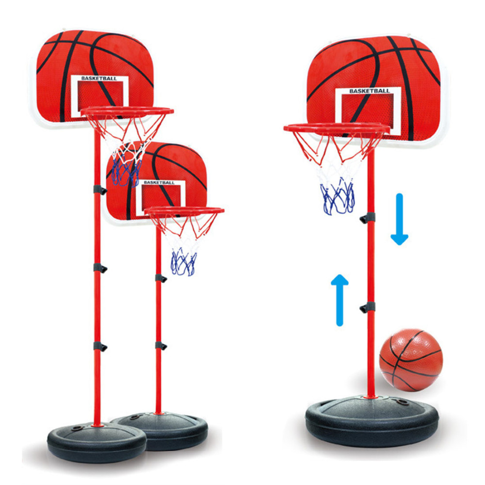 Children Basketball Stand Portable Basketball Backboard Height Adjustable with Inflator Basquete Game Set Boys Indoor Sports