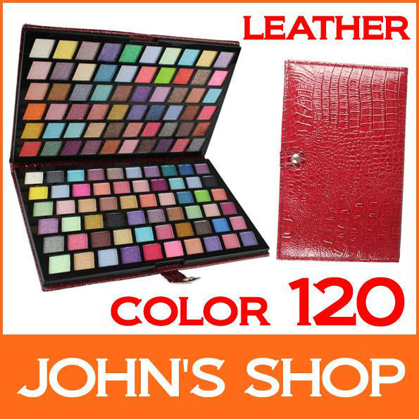 Free shipping  Pro 120 Color Eye Shadow with Leather Case Set Eyeshadow & Makeup Eye Shadow Palette make up