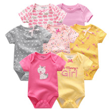 Fetchmous 7 PCS/lot summer short sleeve Bodysuits cotton