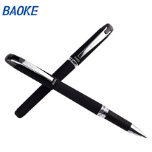 Хорошее Baoke письменные принадлежности 12 шт. 1,0 мм черные чернила гелевые ручки Офис Школьные принадлежности Papelaria Caneta