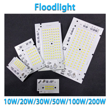 10PCS Smart IC no need driver 10W 20W 30W 50W 100W 200W AC220V-240V Input LED SMD CHIP FOR DIY outdoor floodlight цены