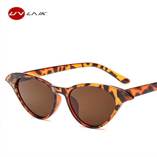 19b4bc6e99a UVLAIK Small Cat Eye Sunglasses Women Round Vintage Cateye Glasses Stylish  Sun Glasses UV400 Goggles