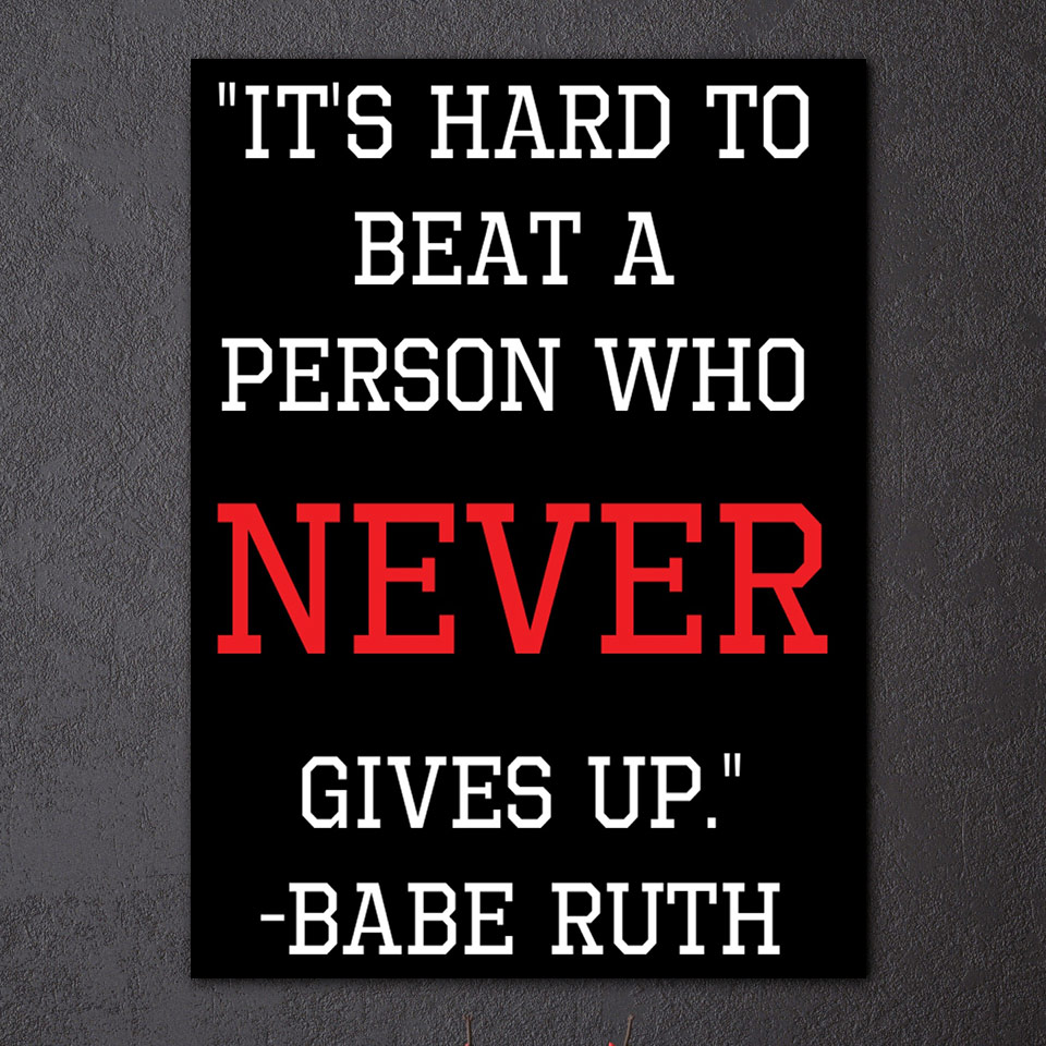 """Never Give Up On Life Quotes 1 Pieces """"never Give Up"""" Life Quotes Wall Art Canvas Poster"""