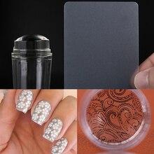 2 шт./компл. Новый Дизайн Чистый Прозрачный Дизайн ногтей штампа Скребки 2.8 см прозрачный силиконовый ногтей штамп Дизайн ногтей Инструменты