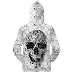 Image 2 - เสื้อHoodies/3D Skull Men Zip Hoody Zipper Pulloverชายเสื้อฤดูใบไม้ร่วงTracksuitคุณภาพHoodieเสื้อDropship ZOOTOPBEAR