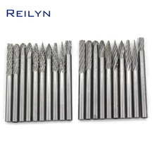Free Shipping Tungsten steel file 20pcs 3mm x 3mm thread milling cutter rotary file grinding bits electric drill/rotary tools