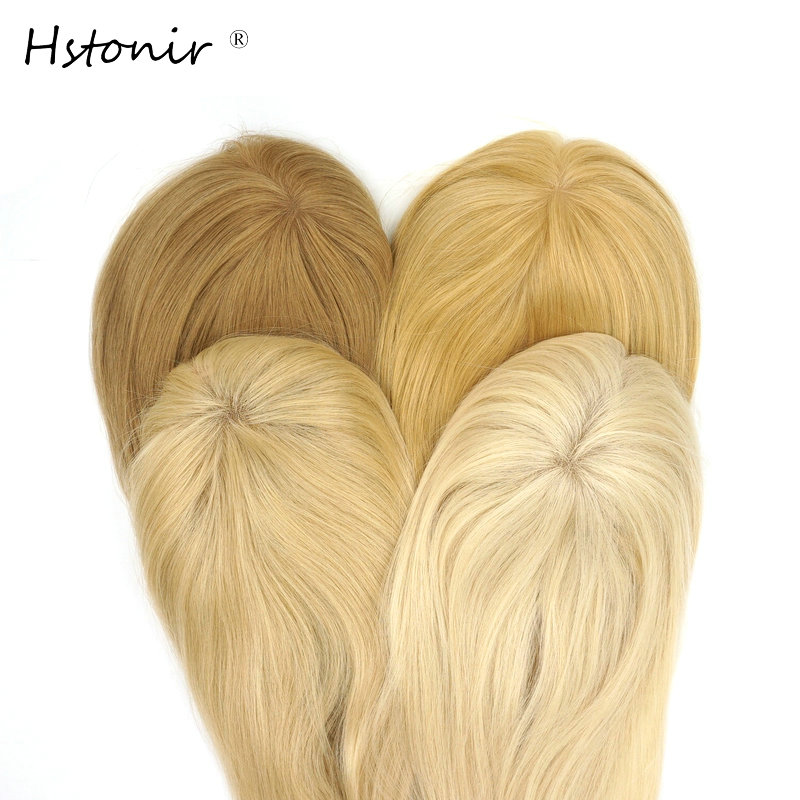 EntrüCkung Hstonir Blond 613 Frauen Toupet Clip Top Haarteile Mono Perücken Europäischen Remy Haar Verschluss Tp04 Einen Effekt In Richtung Klare Sicht Erzeugen Haarteile