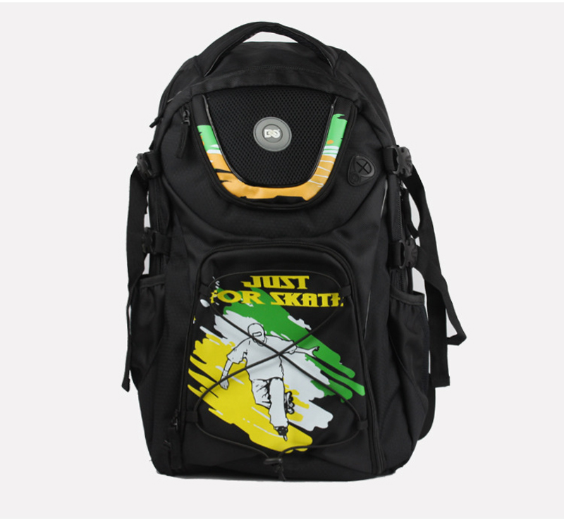 2018 NEW Professional Adult Ice Roller Skate Shoes Bag Laptop Carry Bag Backpack Big Capacity Graffiti Sport Bag Random Style vik max hot sale cheap adult white figure hockey skate shoes ice skate shoes with high carbon steel ice blade