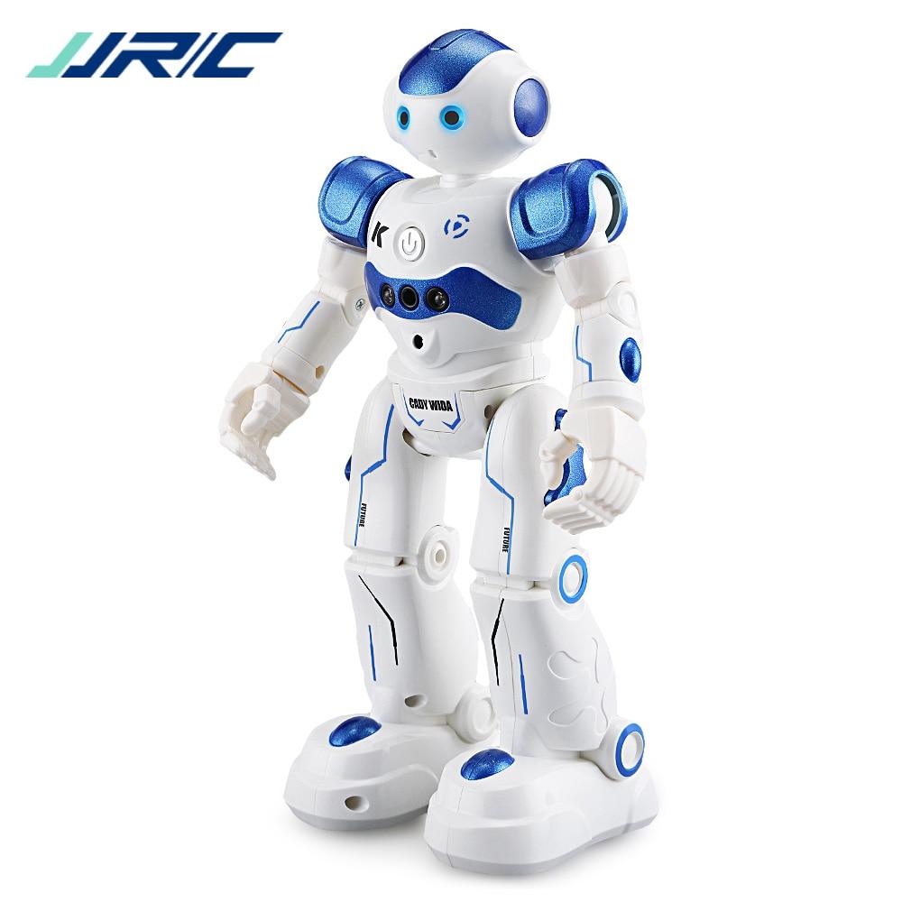 Original JJRC R2 2.4G Intelligent Programming Gesture Sensor Singing Dancing Display Candy Action Figure Robots RC Robot Toy jjrc r3 rc robot toys intelligent programming dancing gesture sensor control for children kids f22483 f22483