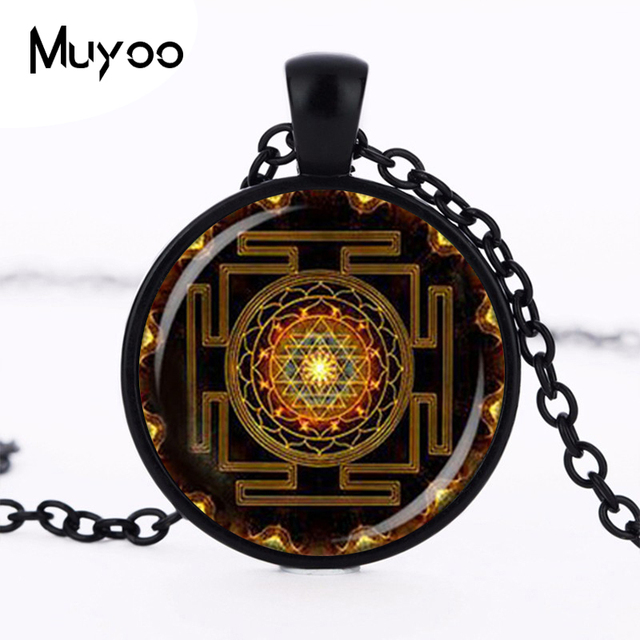 Steampunk sri yantra mandala glass dome pendant necklace diy steampunk sri yantra mandala glass dome pendant necklace diy handmade fashion buddhist sacred geometry jewelry charm aloadofball Gallery