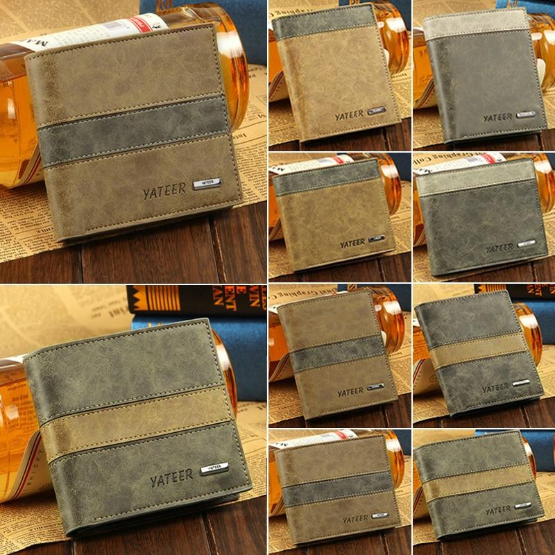 купить 2018 NEW Slim Retro Fashion Casual Matte Short PU Leather Wallet Student Small Trifold Purse Wallets Card Holders Coin Purses по цене 280.85 рублей