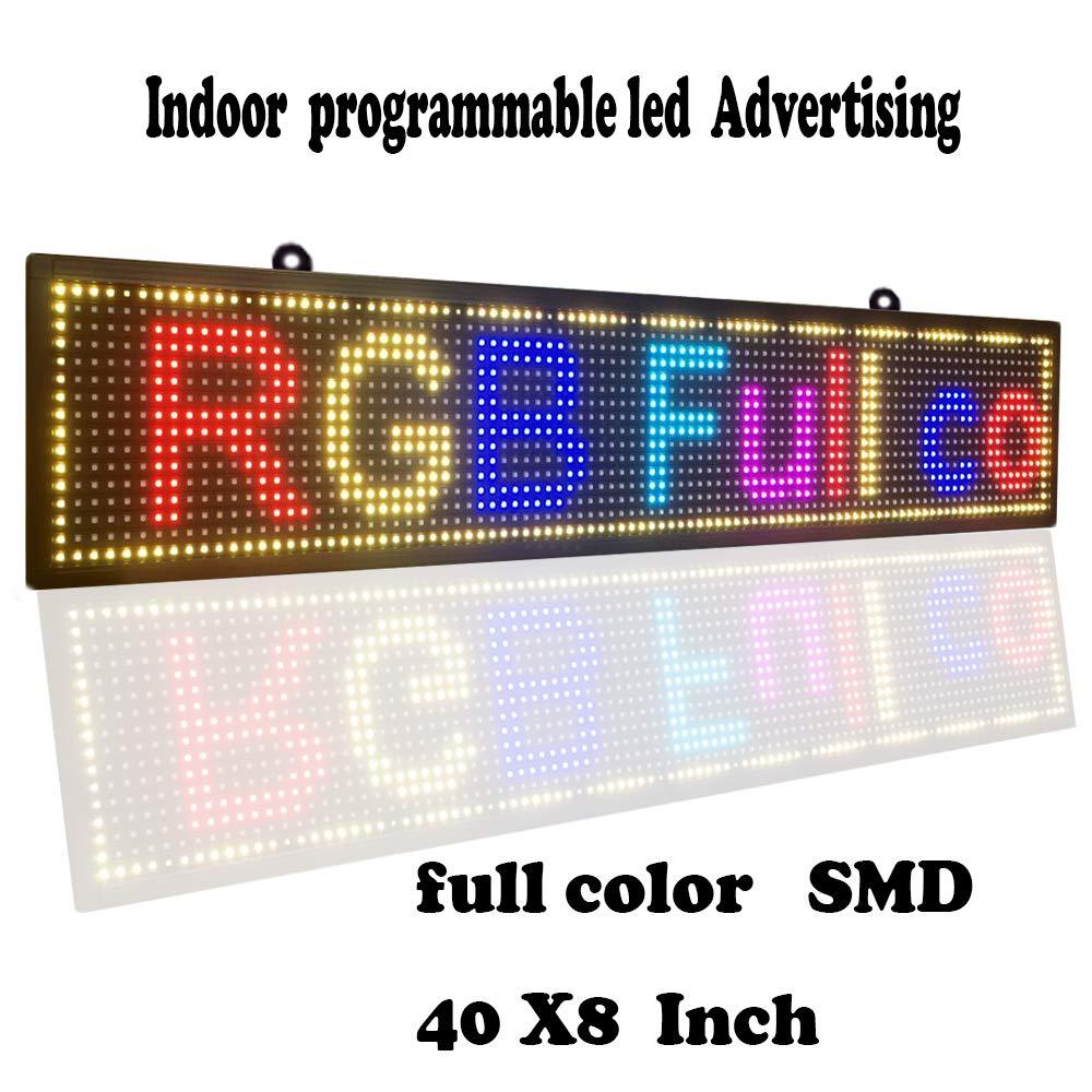 Défilement CONDUIT Signes Couleur SMD PH10mm 40 x 8 Message Display utilisation Intérieure USB Programmable LED Signe pour les Entreprises Conseil Ad