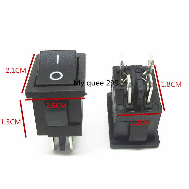 5pcs Lot 21x15mm Kcd1 104 Rocker Switch Boat Rocker Power Switch Black 4 Pin 2 Terminal Pin Switch Terminal Switchpin 2 Aliexpress