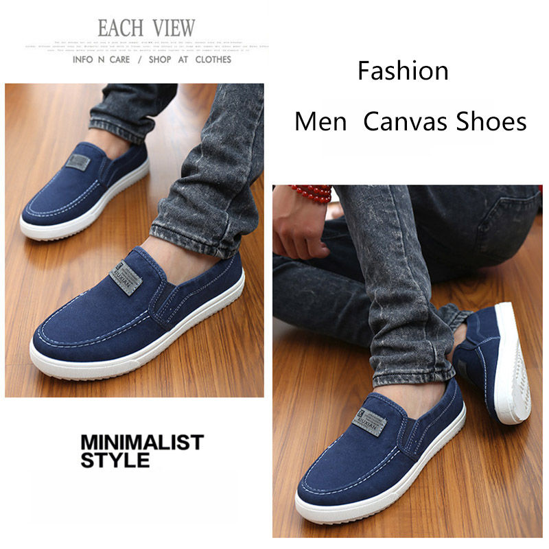 c4218fe0fca Merkmak Brand Canvas Casual Men s Shoes British Loafers Mens Flats  Masculinos Comfort Driving Men Flats Footwear Shoes Drop Ship-in Men s  Casual Shoes from ...