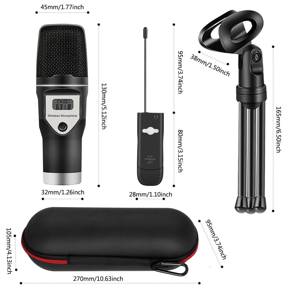 Nouveau micro USB sans fil Home Studio condensateur micro pour enregistrements Podcast recherche vocale jeux