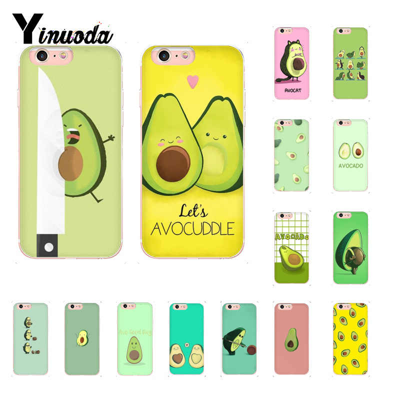 Yinuoda avocado aesthetic cute fashion pattern Phone Case for iPhoneX XSMAX  6 6s 7 7plus 8 8Plus 5S SE XR 10 11 11pro 11promax