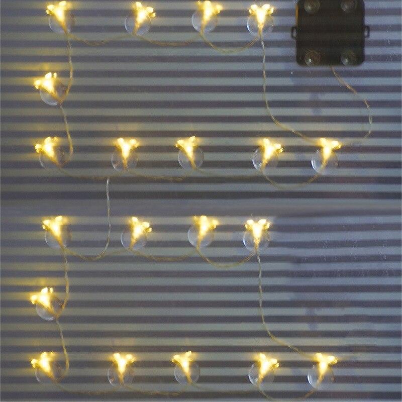 Новый солнечный светильник 10 светодиодный адсорбции стекло лампы окна украшения огни строки