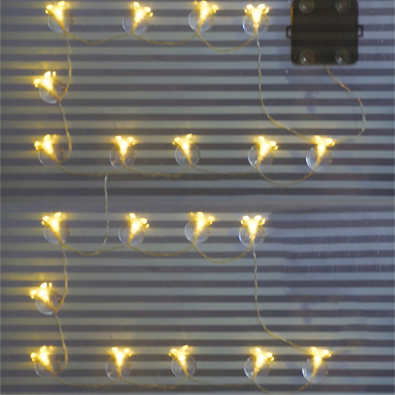 New solar lamp 10 LED adsorption glass lamp window decoration string lights