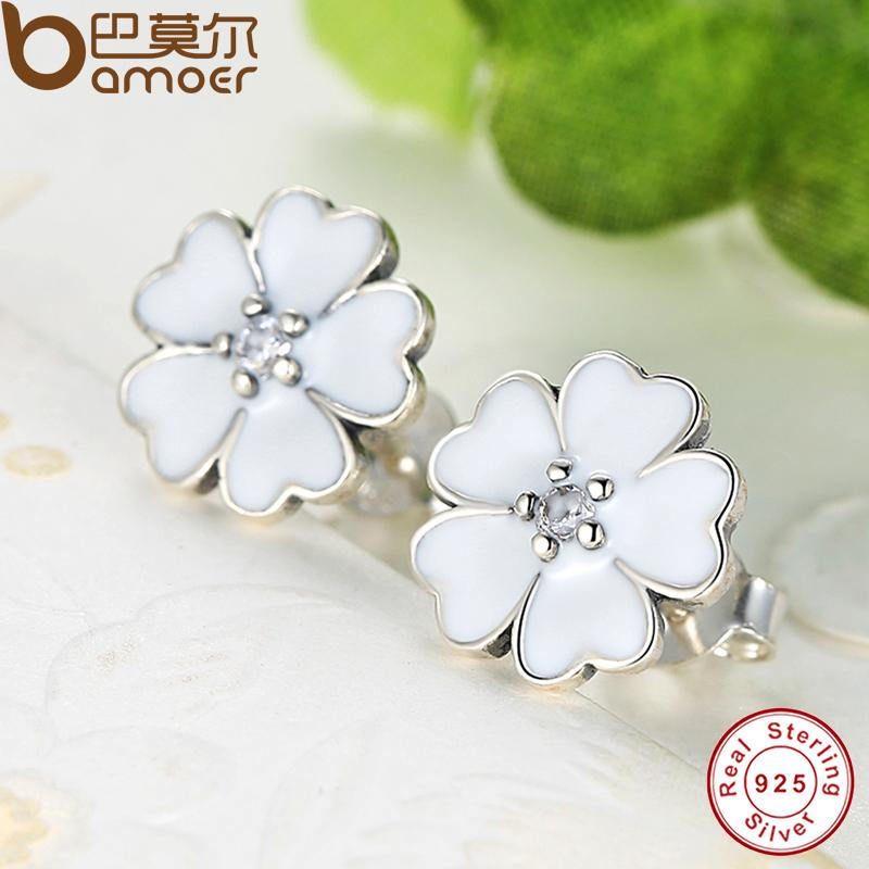 handmadejewelry white stud mothersdaygifts pin flowerearrings hypoallergenic jewelry earrings chrysanthemums ear eastergifther polymerclay flower