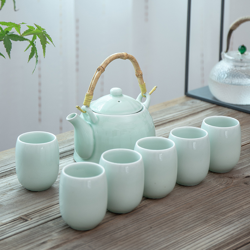 TANGPIN big capacity celadon tea sets porcelain teapot teacup chinese kung fu tea set drinkware