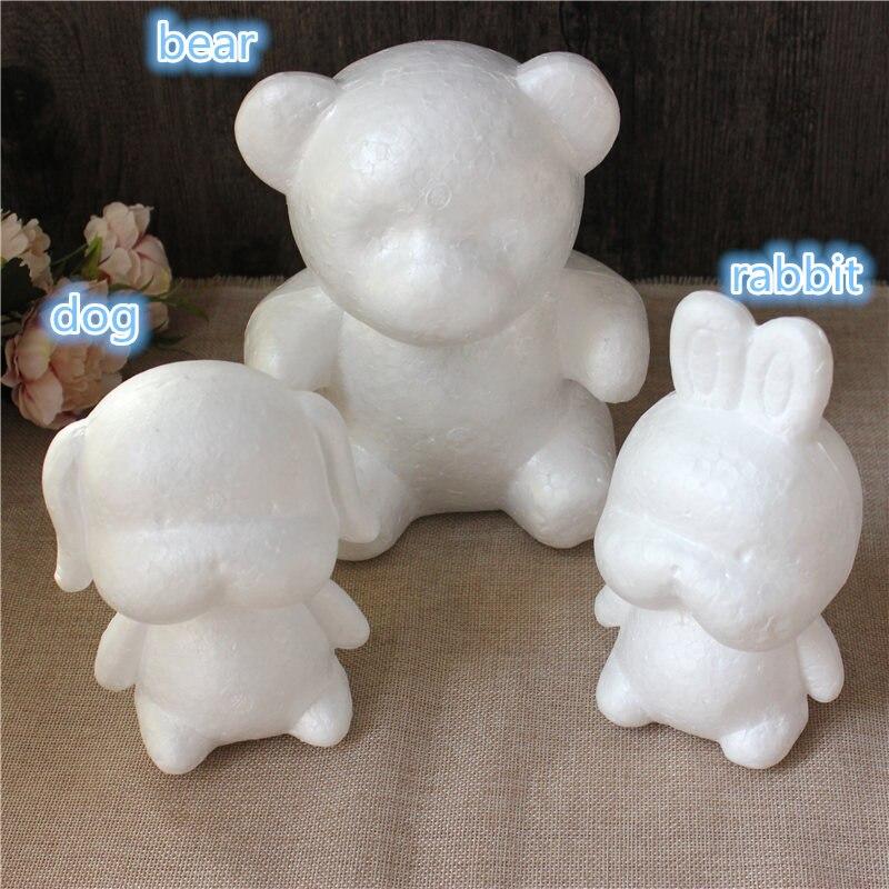 1 шт. 160 мм моделирование пенополистирол пенопласт пены животных Белый авторские шары для DIY для рождественской вечеринки украшения поставки подарки