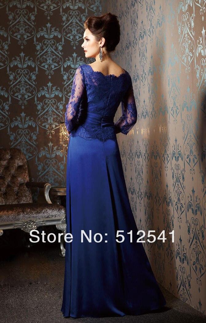 Blue Elegant Lace Dress By Mother of Bride_idodress 1 (4).jpg