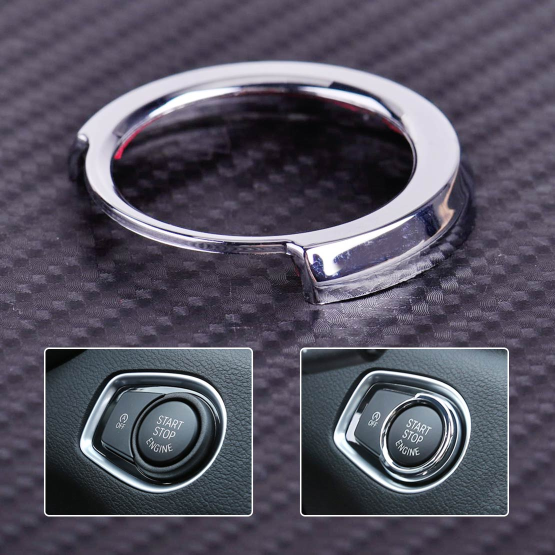 CITALL car-styling Chrome Engine Start Stop Button Switch Decorative Frame Cover Trim for <font><b>BMW</b></font> 1 3 Series F30 F20 316i 320i <font><b>116i</b></font> image