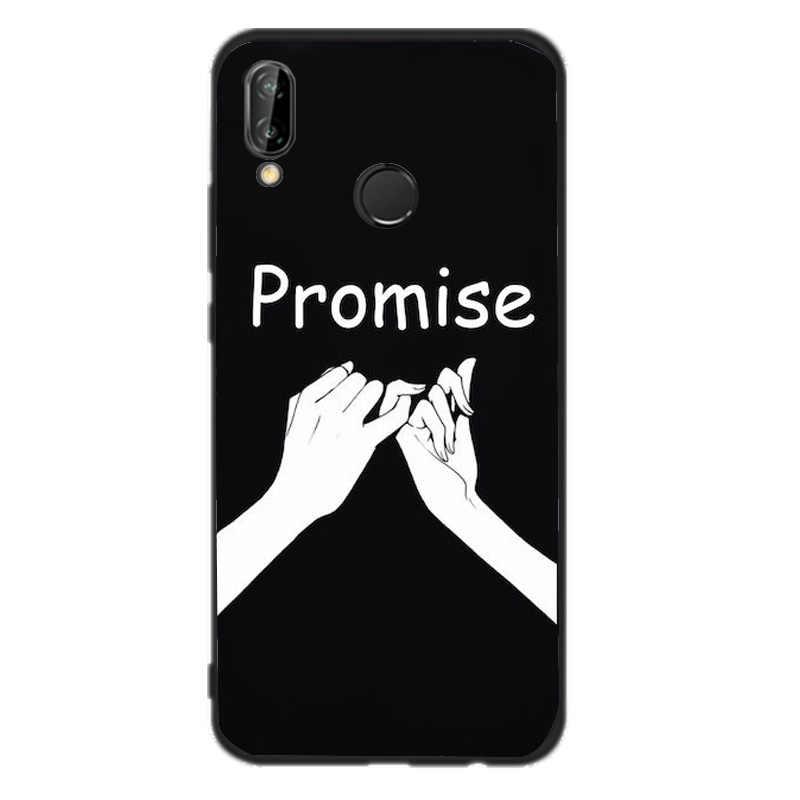 El kılıf için Huawei Mate 10 Lite P8 P9 Lite 2017 P akıllı 2018 kılıf yumuşak sanat kapak siyah Huawei için P10 P20 Lite durumda