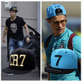 2 Cores 2015 Cristiano Ronaldo CR7 Preto Azul Bonés de Beisebol quadril hop Esportes Futebol Snapback hat Homens mulheres chapeu de sol osso