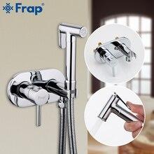 FRAP grifos de bidé para baño, grifo de ducha de latón, bidé, inodoro, rociador, ducha higiénica