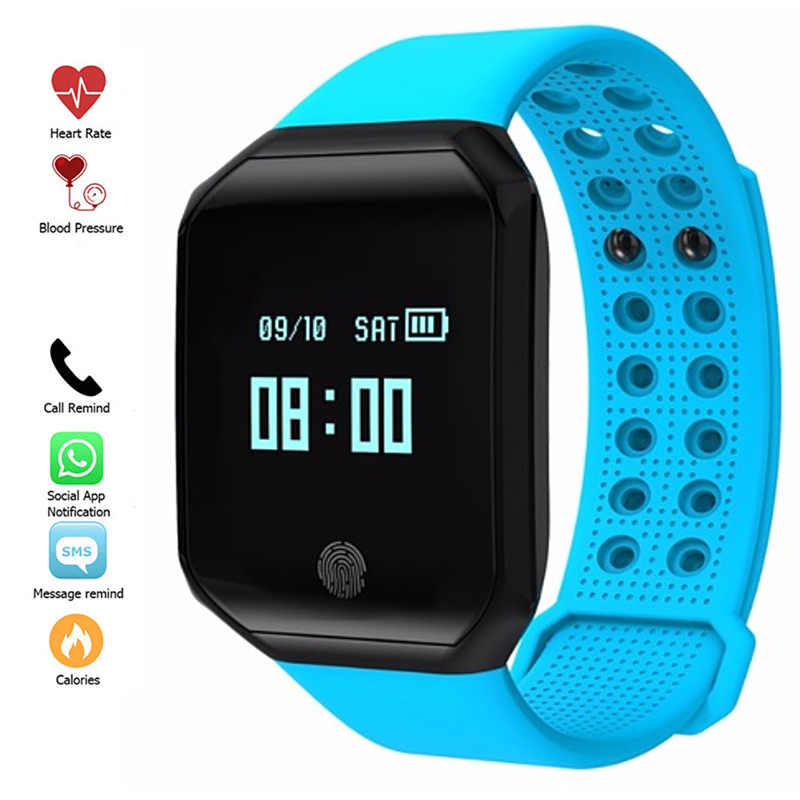 New Fashion Smart Watch Men Sport Heart Rate Blood Pressure Pulse Monitor Fitness Tracker Digital LED Men Waterproof Watches все цены