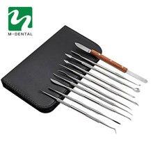 10 pcs/set Professional Dental Lab Equipment Carving Tools Set Surgical Dentist Sculpture Knife Instruments Tool Kit