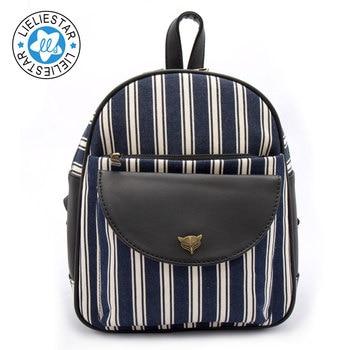 women casual small backpack  schoolbag feminine canvas printing sac a dos school bags for girls female mini backpacks